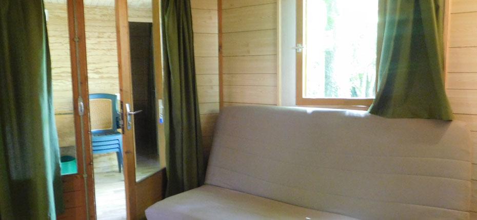 L'intérieur du chalet 2-4 places dans la Vallée de la Dordogne