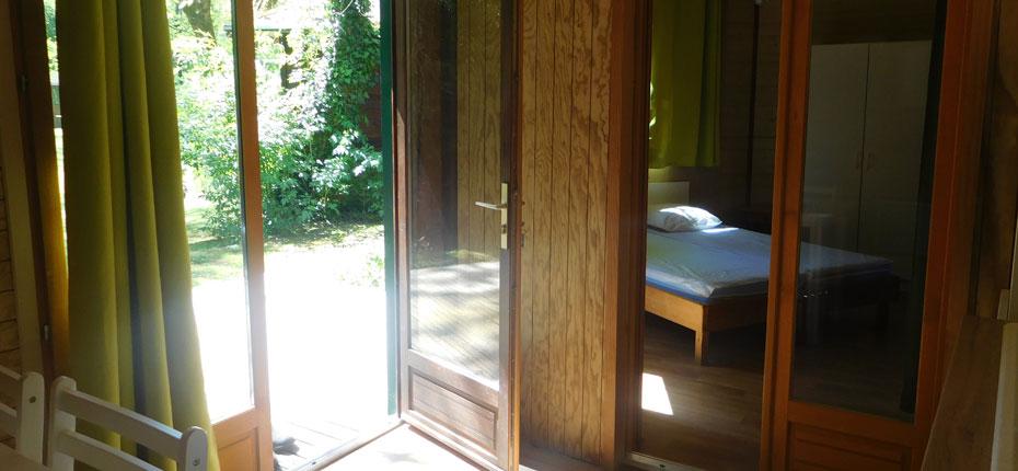 L'intérieur du chalet 2-4 places à Vayrac dans la Vallée de la Dordogne